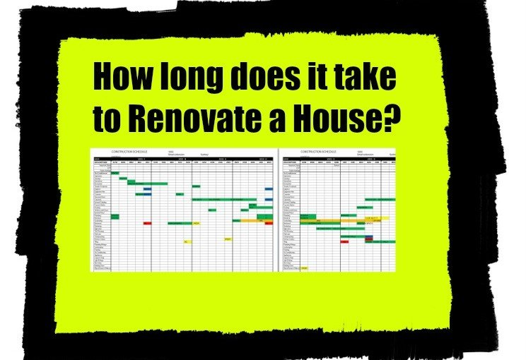 Time line of a renovation project