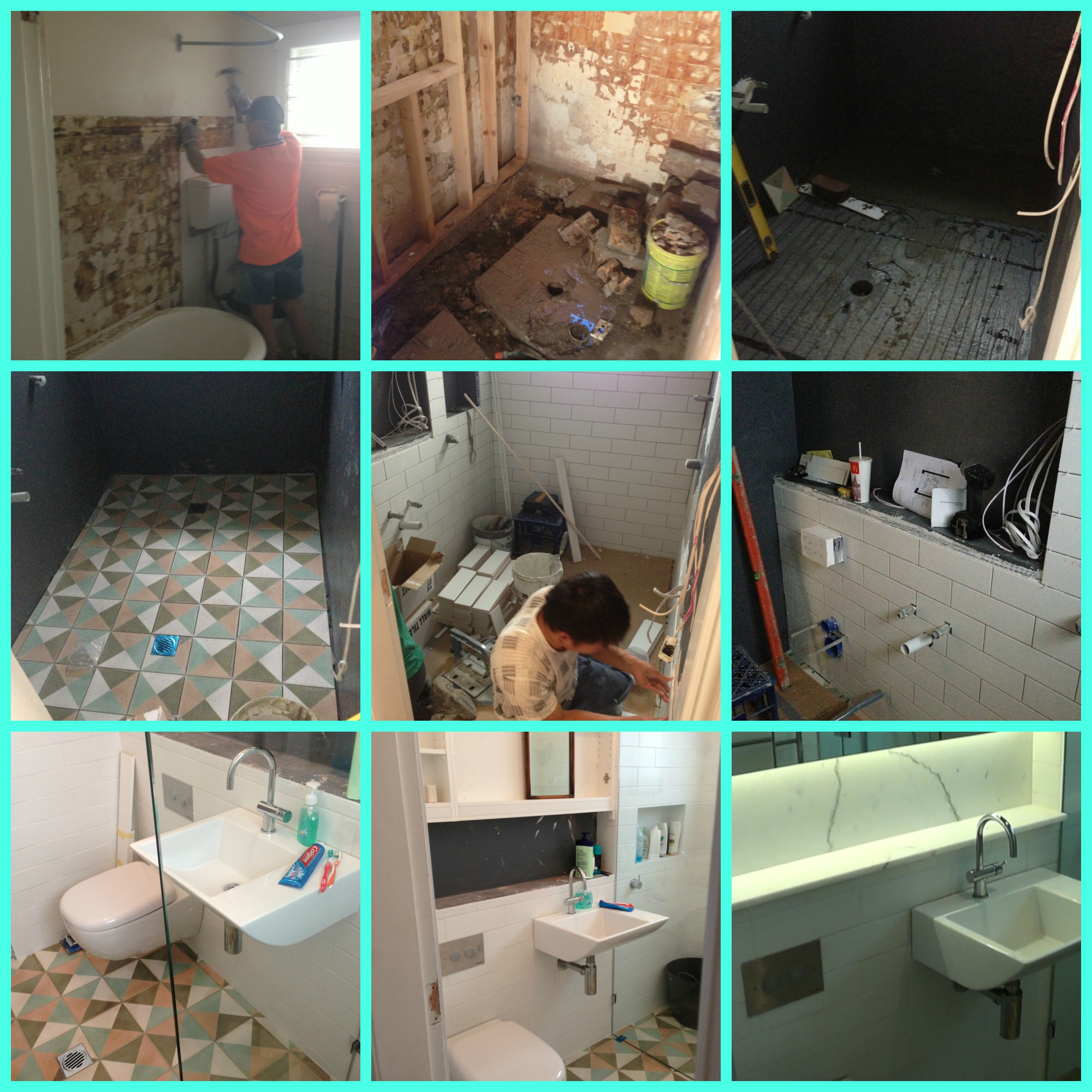 Bathroom progress photos