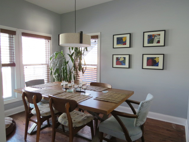 A photo of Becky's renovated dining room
