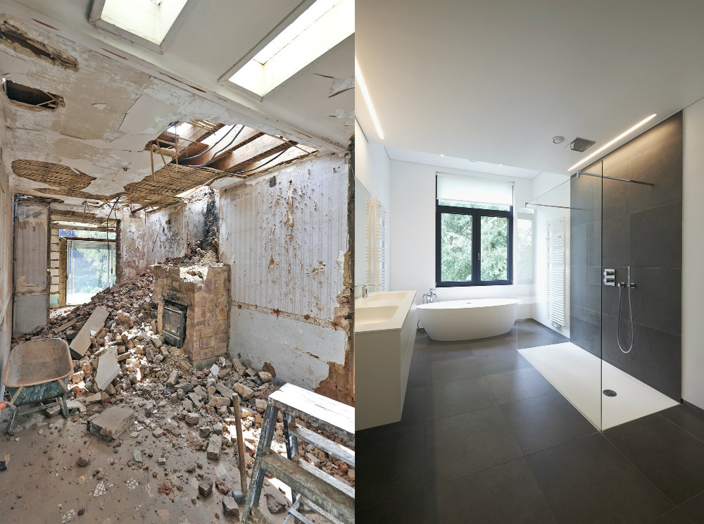 Bathroom-Renovation Before & After