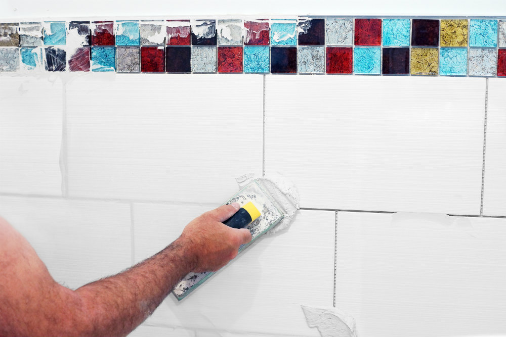 Bathroom Remodel Grouting