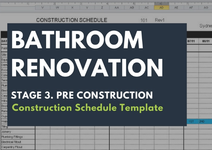 Construction Schedule Template  Renovation Junkies