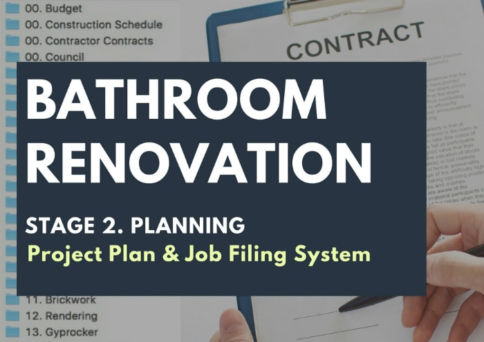 Getting Organized With a Renovation Project Plan