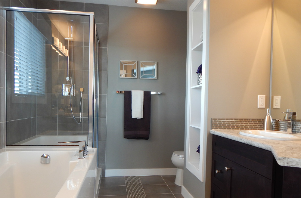 types of bathroom finishes